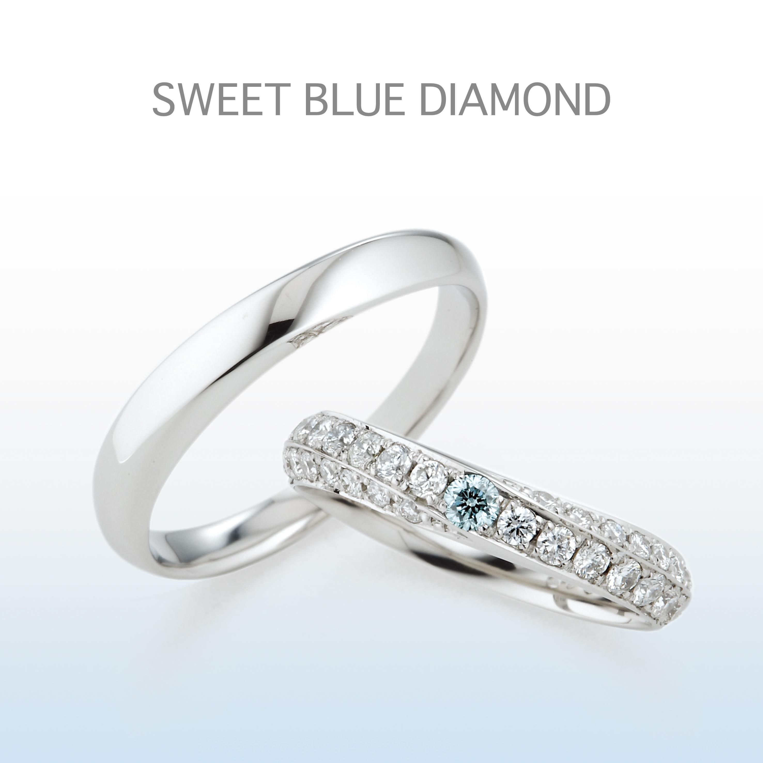 お指全体でダイヤモンドを楽しめるパヴェセッティングのマリッジリング。