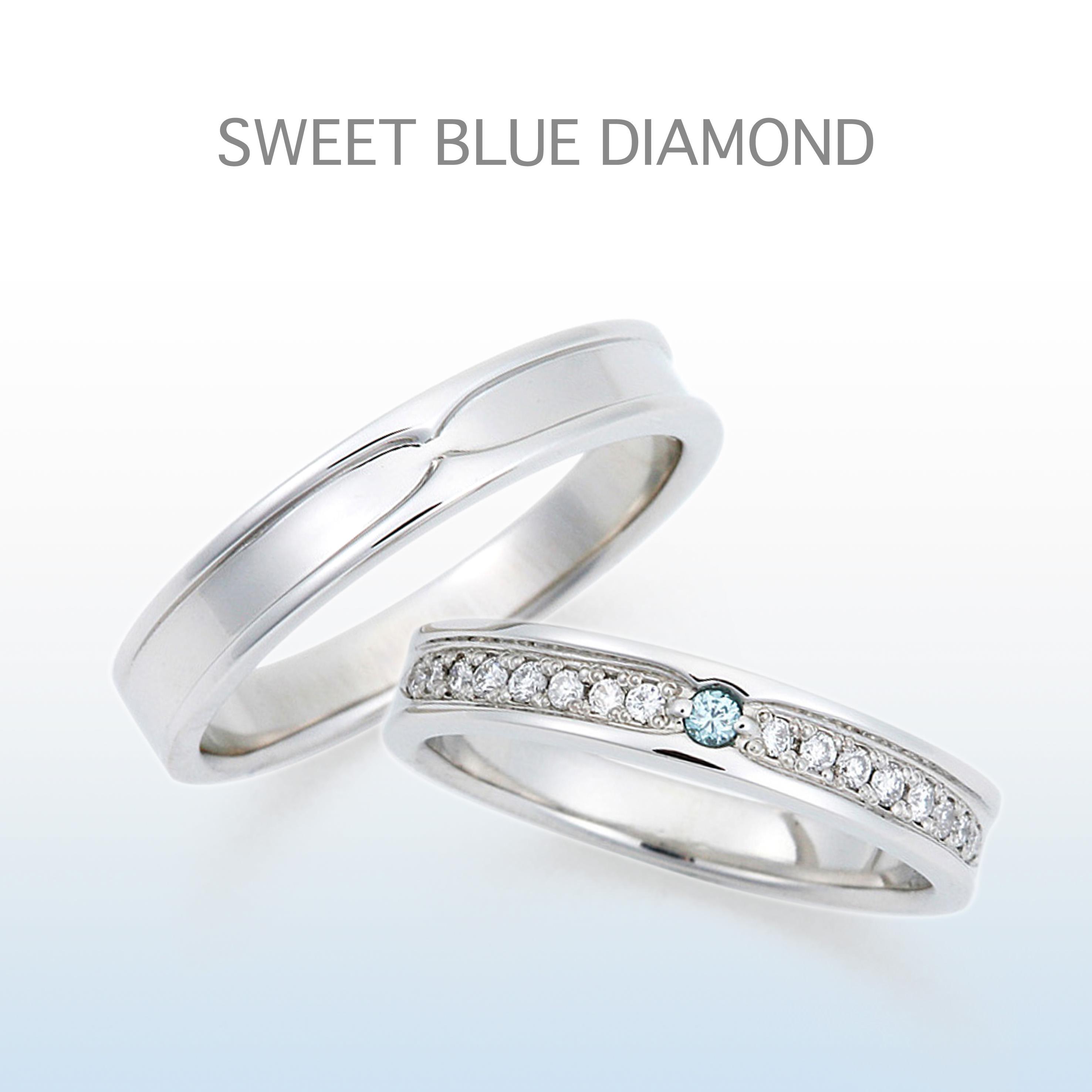 幅が広くレディースのダイヤモンドがゴージャスな結婚指輪。