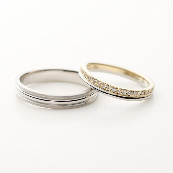 1つ1つ丁寧にセッティングされたダイヤモンドは引っ掛かりの少ない普段使いしやすいデザインです。
