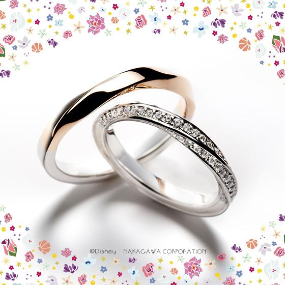 12時の鐘が鳴り響くとき偶然の出会いは運命に…輝きだすふたりの時間をイメージした結婚指輪。