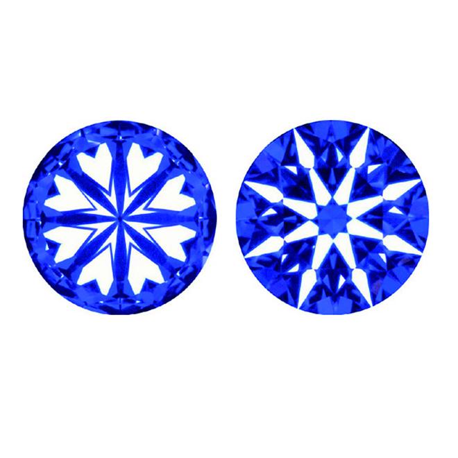 ダイヤモンドカットの中で最高峰といわれる光の見事な反射を生む『ハート&キューピット』。Brilliantstage 〈ブリリアントステージ〉では、すべてのダイヤモンドに『ハート&キューピット』を使用しております。