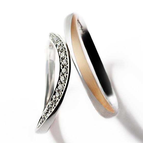 タルト生地に、たっぷりとフィリングを詰め込んだかのようなダイヤモンドがお指を輝かせる。