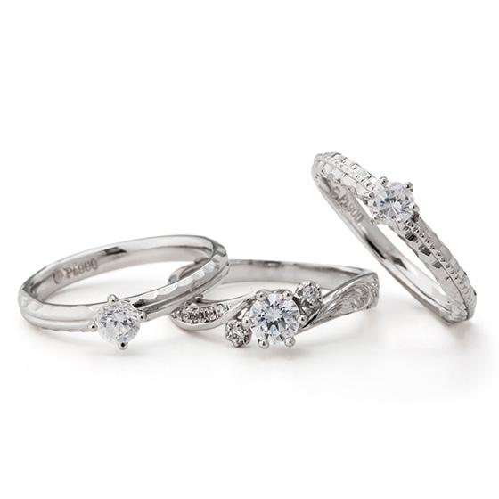 最高品質ハワイアンジュエリーのMakanaの婚約指輪。