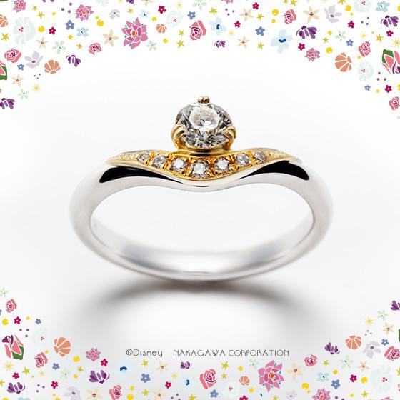 魔法のランプをモチーフにした婚約指輪。