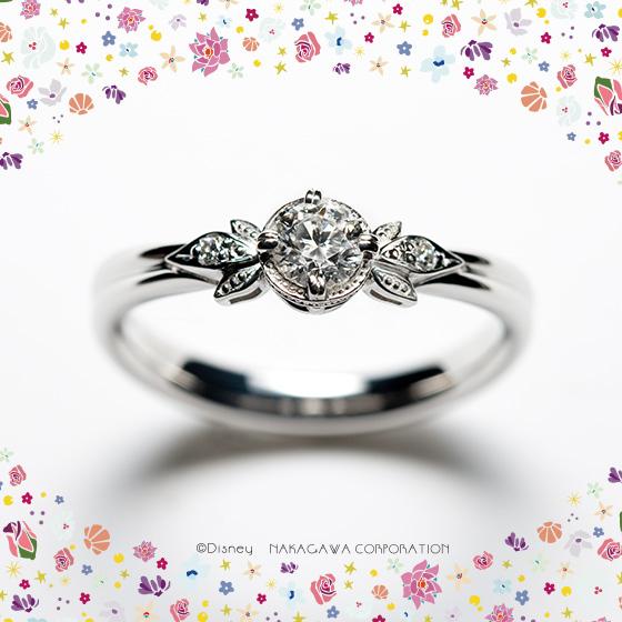 「真実の愛」を象徴する『魔法のバラ』をモチーフにした婚約指輪。愛することを教えてくれた大切なきみへ。