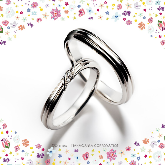 大切なものを守る貝をイメージしたケ結婚指輪。