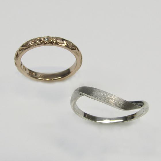 >2つのリングのデザインを採用して、1つのリングに…