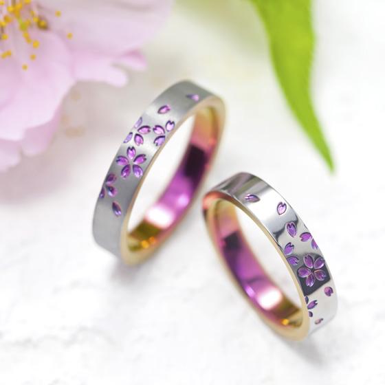満開の桜を思わせる、ふたりの思い出の景色。ひらひらと舞い散る、美しい和の象徴「桜」