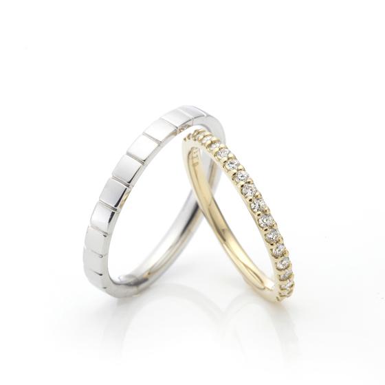 ダイヤモンドの輝きを引き立ててくれる爪留めタイプのエタニティリング♪~この輝きを永遠に~