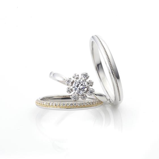 重ね付けをすると一気にゴージャスな印象を与えてくれるセットリング♡細身のリングなので、指が華奢な方にもオススメ♪