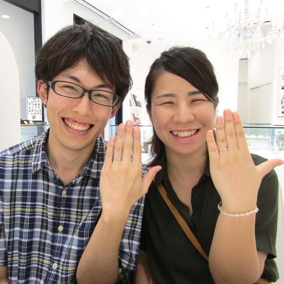 >笑顔の素敵な岡田様♡三芳様 プラチナの輝きが美しい結婚指輪をオーダーメイドされました!