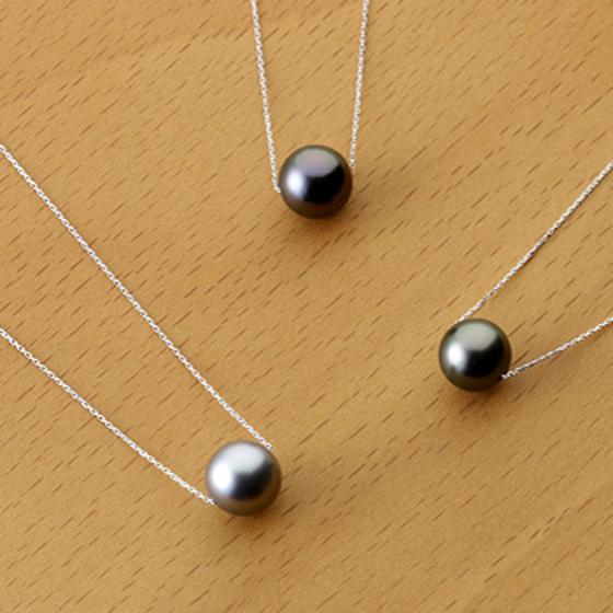 1粒タイプのベーシックなネックレス。普段使いに、フォーマルにも使用できます。