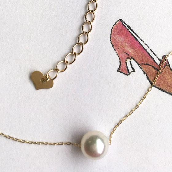 アコヤ真珠の最高品質のTAMAYURAを使用したシンプルなパールネックレス。