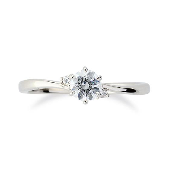 着けやすさはもちろん、メレダイヤと中心のダイヤモンドが一体となって存在感がある婚約指輪です