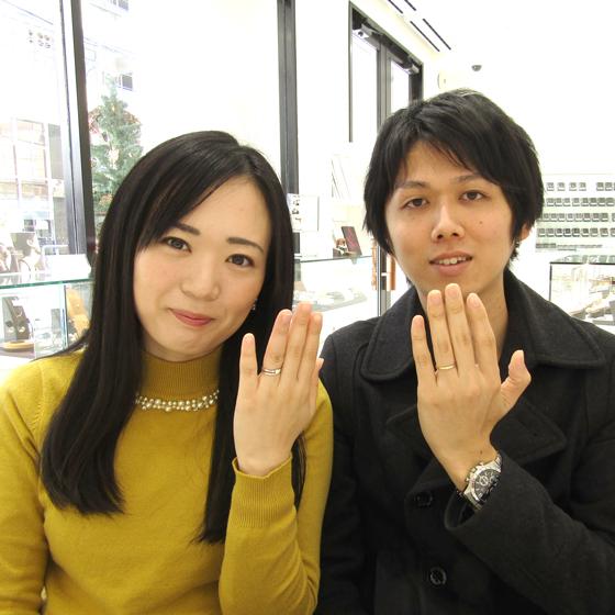 >2色のコンビネーションリング✨お2人の薬指に永遠に輝きます!
