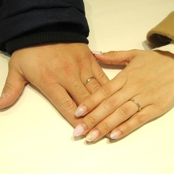 >槌目模様の優しい光が温かく2人を包みます♡いつまでもお幸せに!