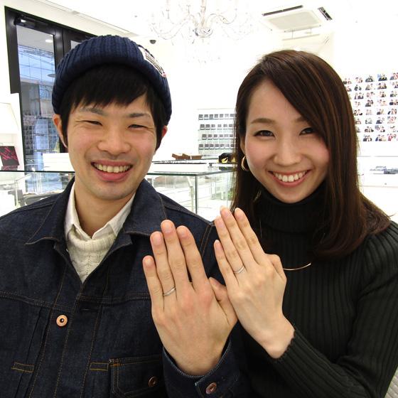 女性用の結婚指輪はハート&キューピッドカット輝きに特化した特別なダイヤモンドを✨