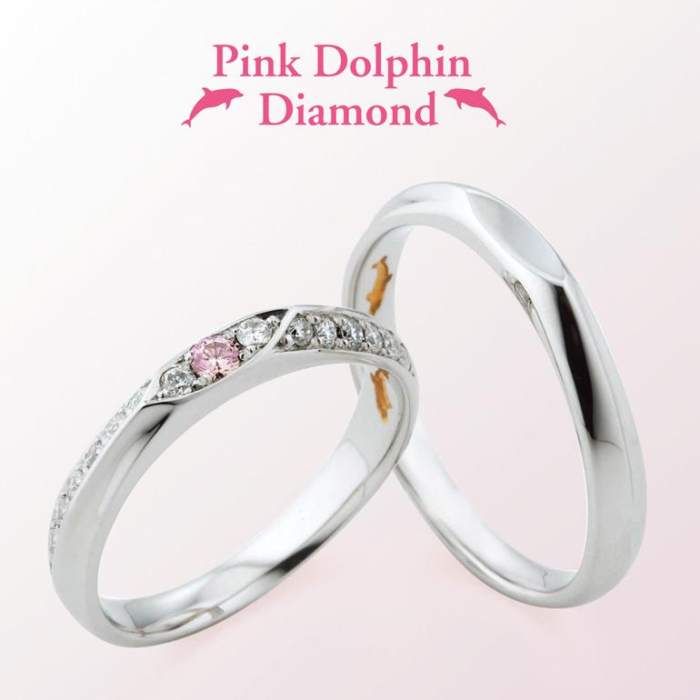 ダイヤモンドが敷き詰められた華やかな結婚指輪。花嫁様のお手元をより華やかに!