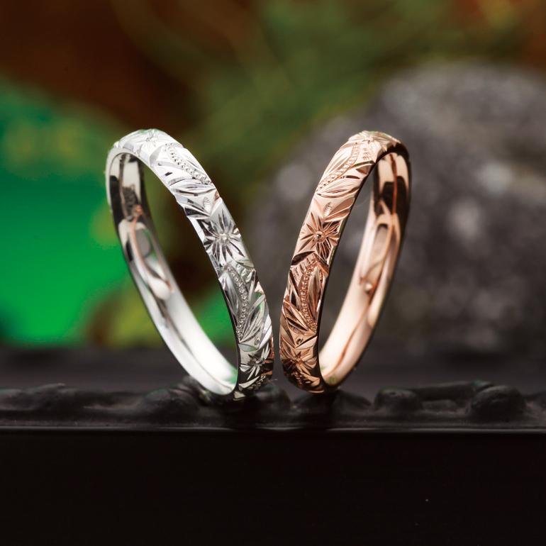 マウロア=永遠を表したシングルトーン(単色)タイプの結婚指輪(マリッジリング)