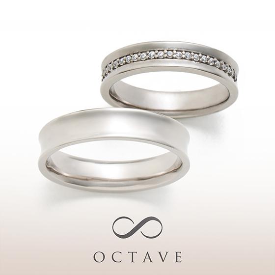 ボリューム感のある結婚指輪(マリッジリング)内甲丸なので幅広でもごつく見えません。