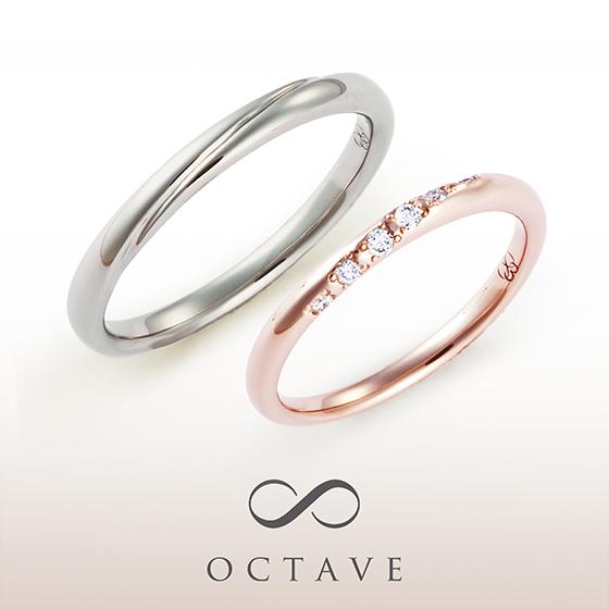 シンプルなストレートタイプの結婚指輪。5種類の素材でお作り出来ます。