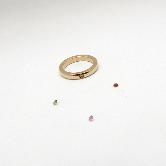 Semi Order Baby Ring【K18PG スタンダードリング】