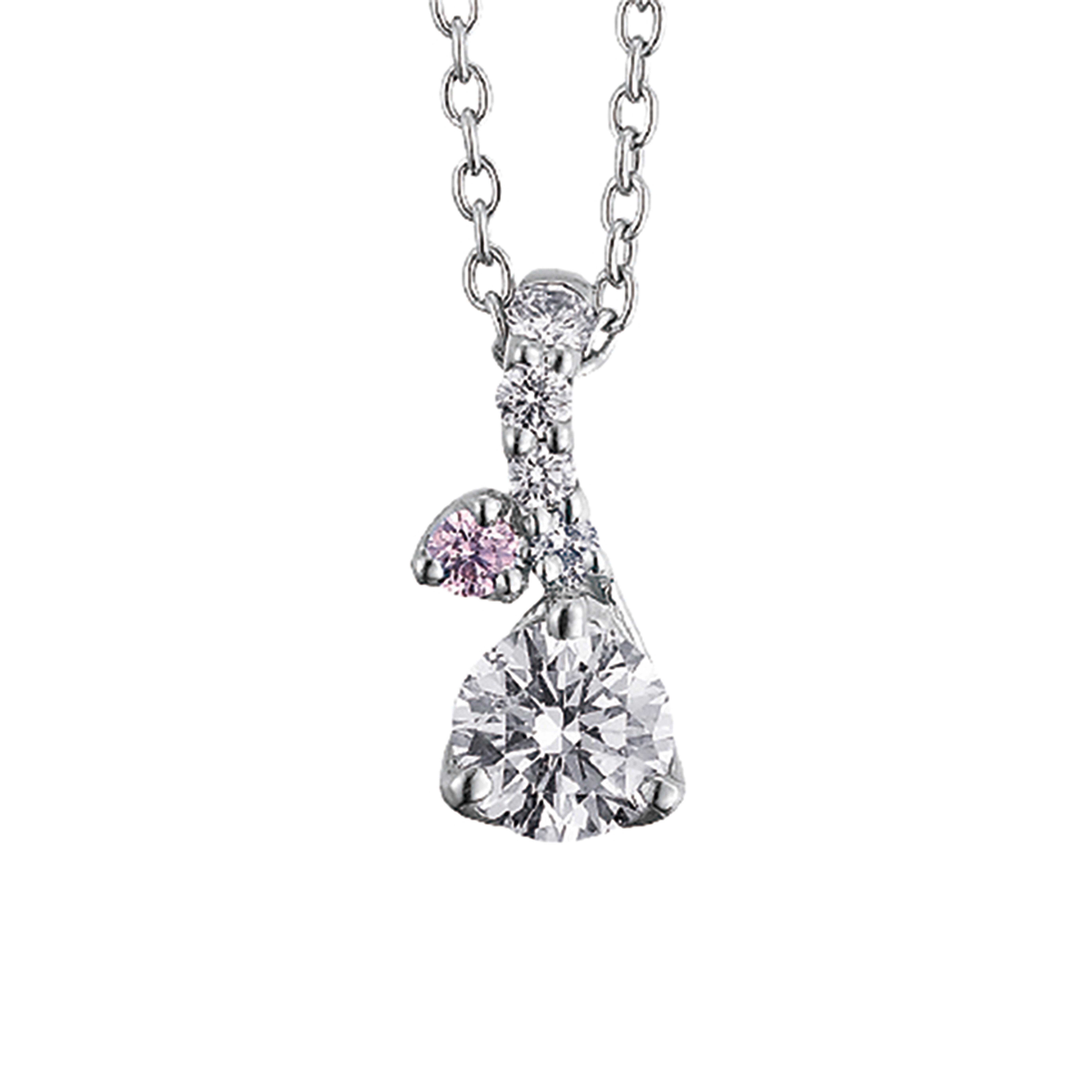 マーメイドをイメージしたピンクダイヤモンドが特徴。緩やかなカーブが女性らしさを出します。