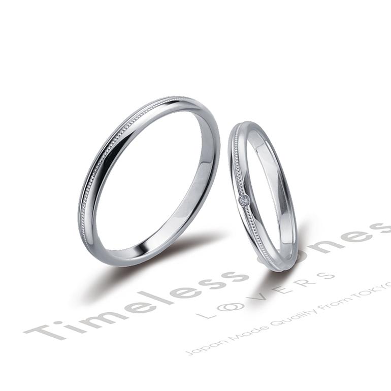 シンプルだけど、華奢なアームの中にミルグレイン加工を施し可愛らしいデザインです。