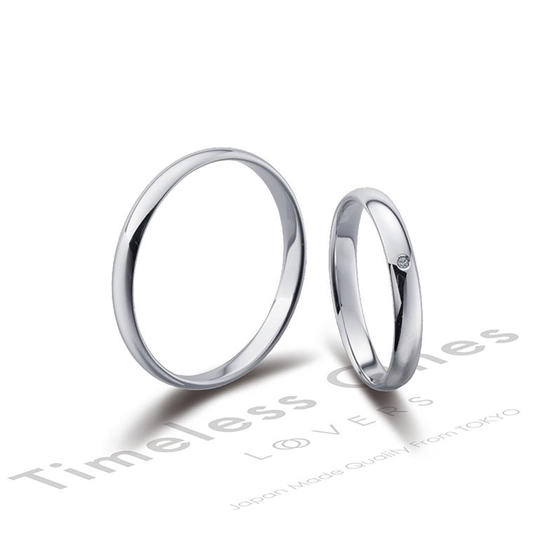 とてもシンプルで華奢なデザイン。指をきれいに見せてくれます。昔から愛されているデザインです♡