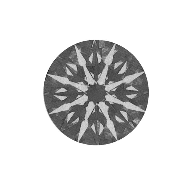 天使の矢のような形が見えるのはしっかりとしたダイヤモンドの特徴です。