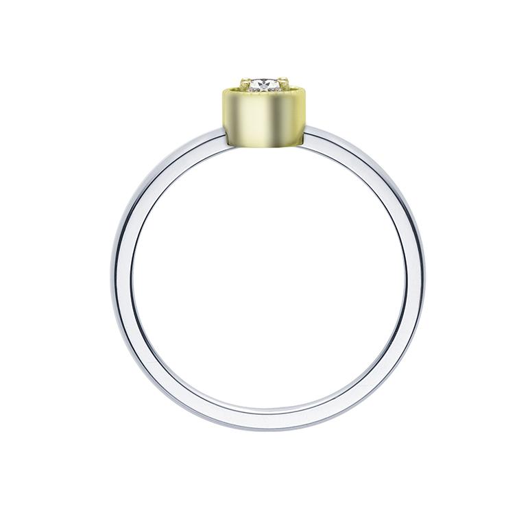 横から見てもシンプルな作りで結婚指輪との重ね付けもしやすいプロポーズリング