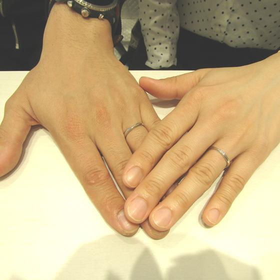 >お二人の指にぴったりなご結婚指輪♡とってもお似合いです!