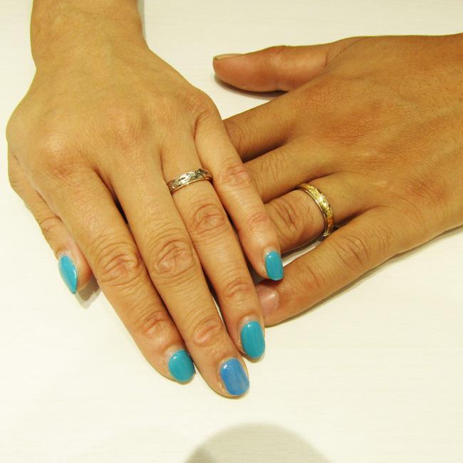 >悩みに悩んだレールタイプのご結婚指輪。程よい幅感がとっても素敵です!