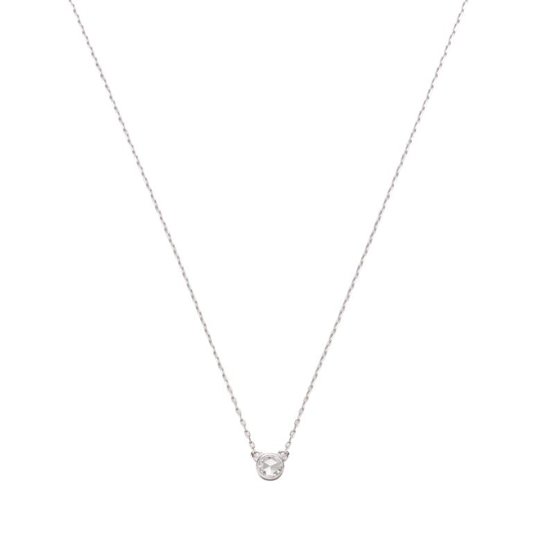 1粒のシンプルなダイヤモンドネックレス。