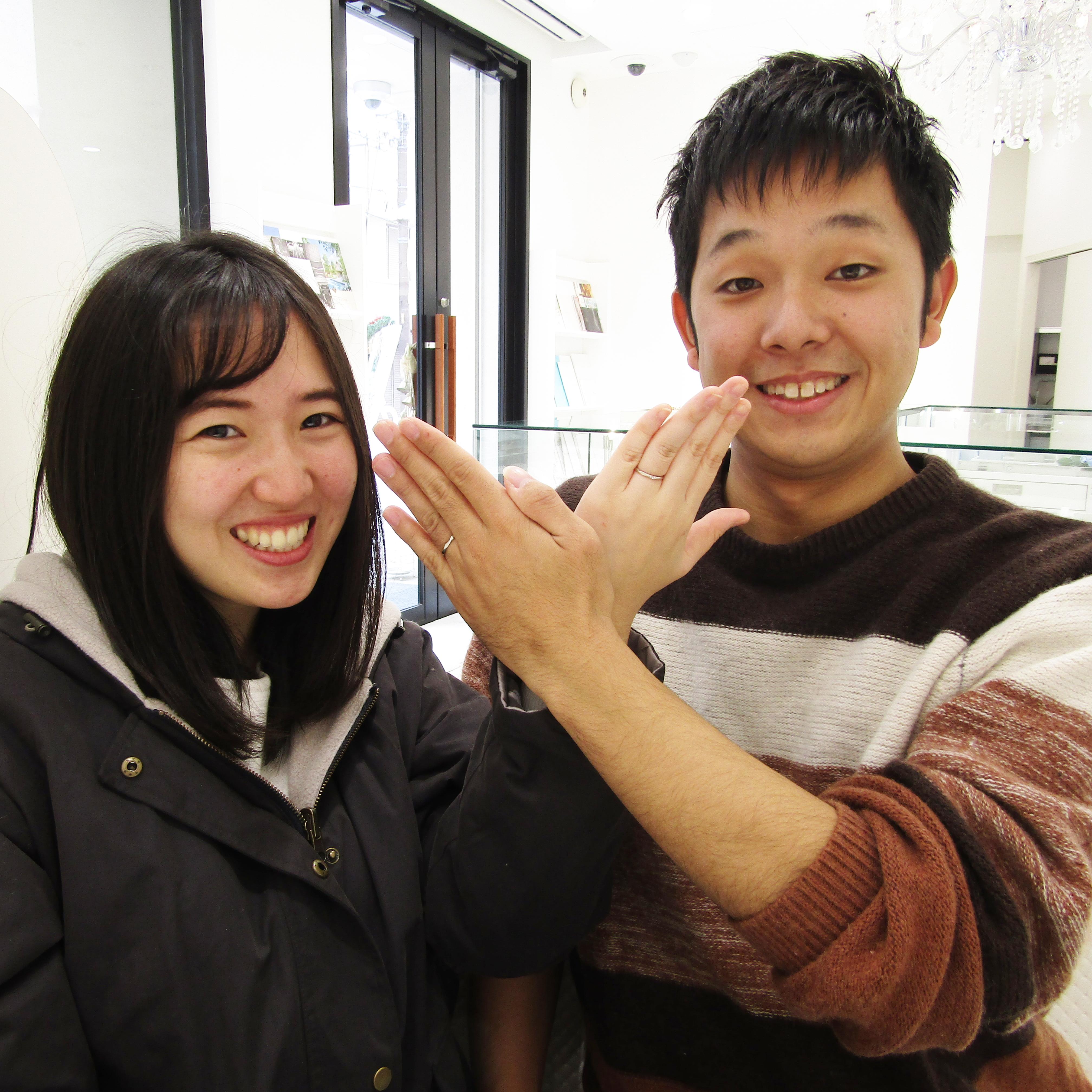 指輪ができて嬉しそう♡とっても素敵な笑顔を頂きました!