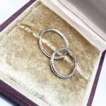 >指輪の内側には誕生石と刻印をしっかり入れさせていただきました!