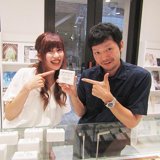 >運命の結婚指輪が見つかりました!素敵な笑顔をありがとうございます♡