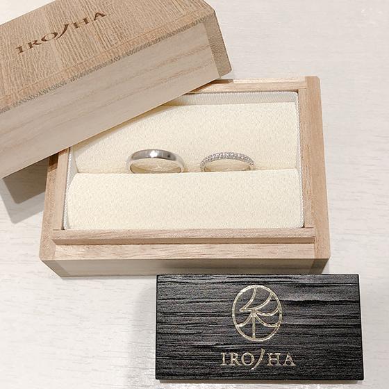 上品なIRONOHA専用桐箱ケースにて納品いたします。