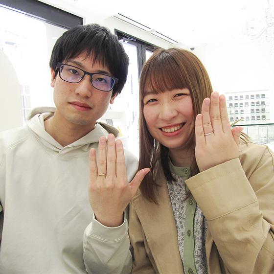 >とっても笑顔が素敵なお二人!とても楽しく打合せをさせて頂きました(^^)